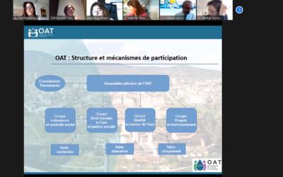 L'OAT com a ponent destacat a un Webinar a París sobre Estratègies per gestionar i protegir un recurs comú com l'aigua.